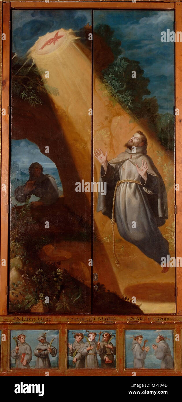 Altarpiece of San Diego de Alcalá. - Stock Image