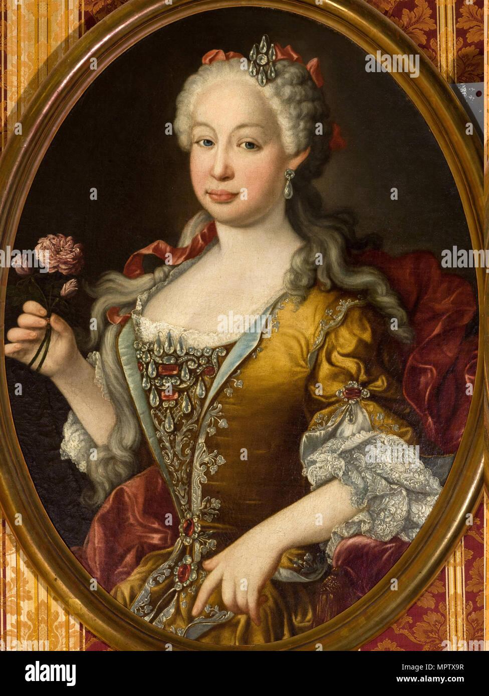 Portrait of Infanta Barbara of Portugal (1711-1758). - Stock Image