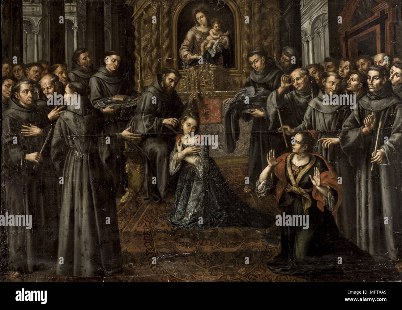 The profession of Saint Clare. - Stock Image