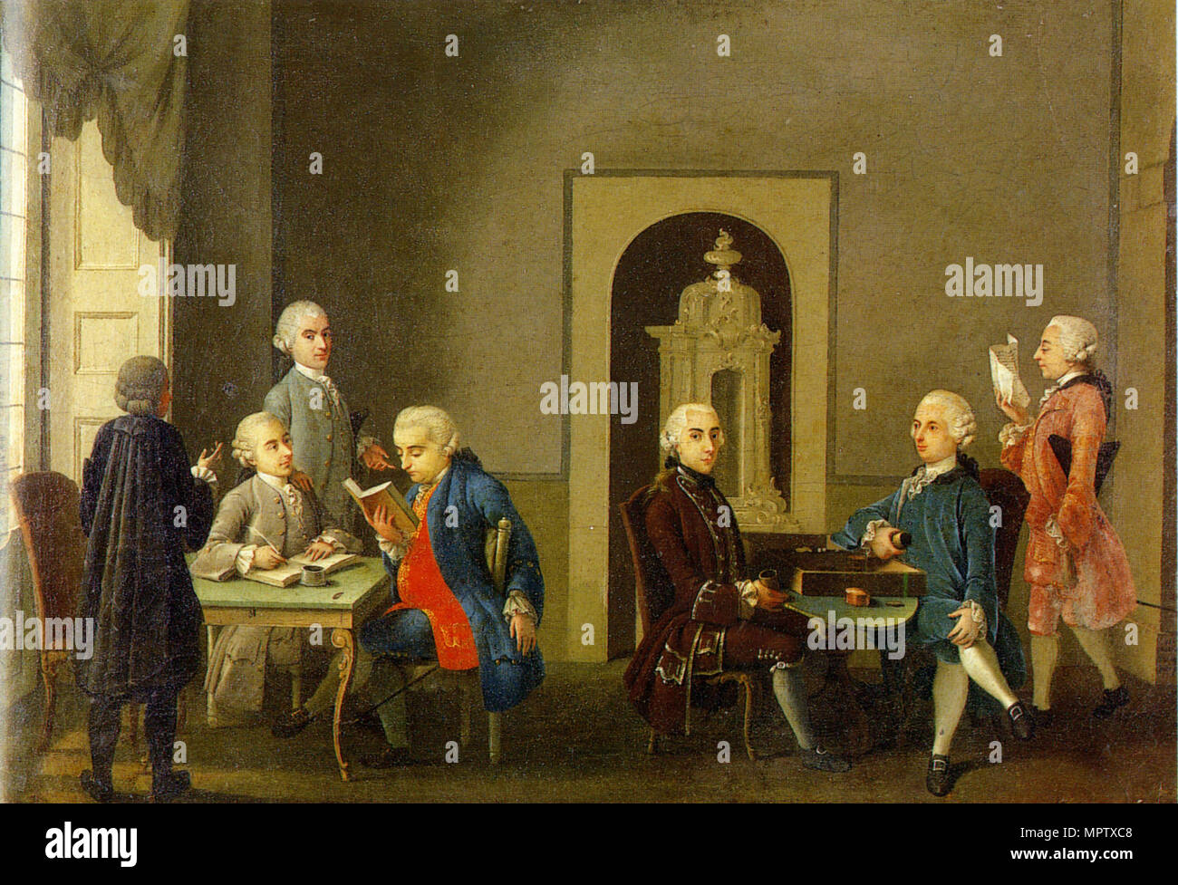 The Meeting of the Accademia dei Pugni (Academy of Fists). - Stock Image
