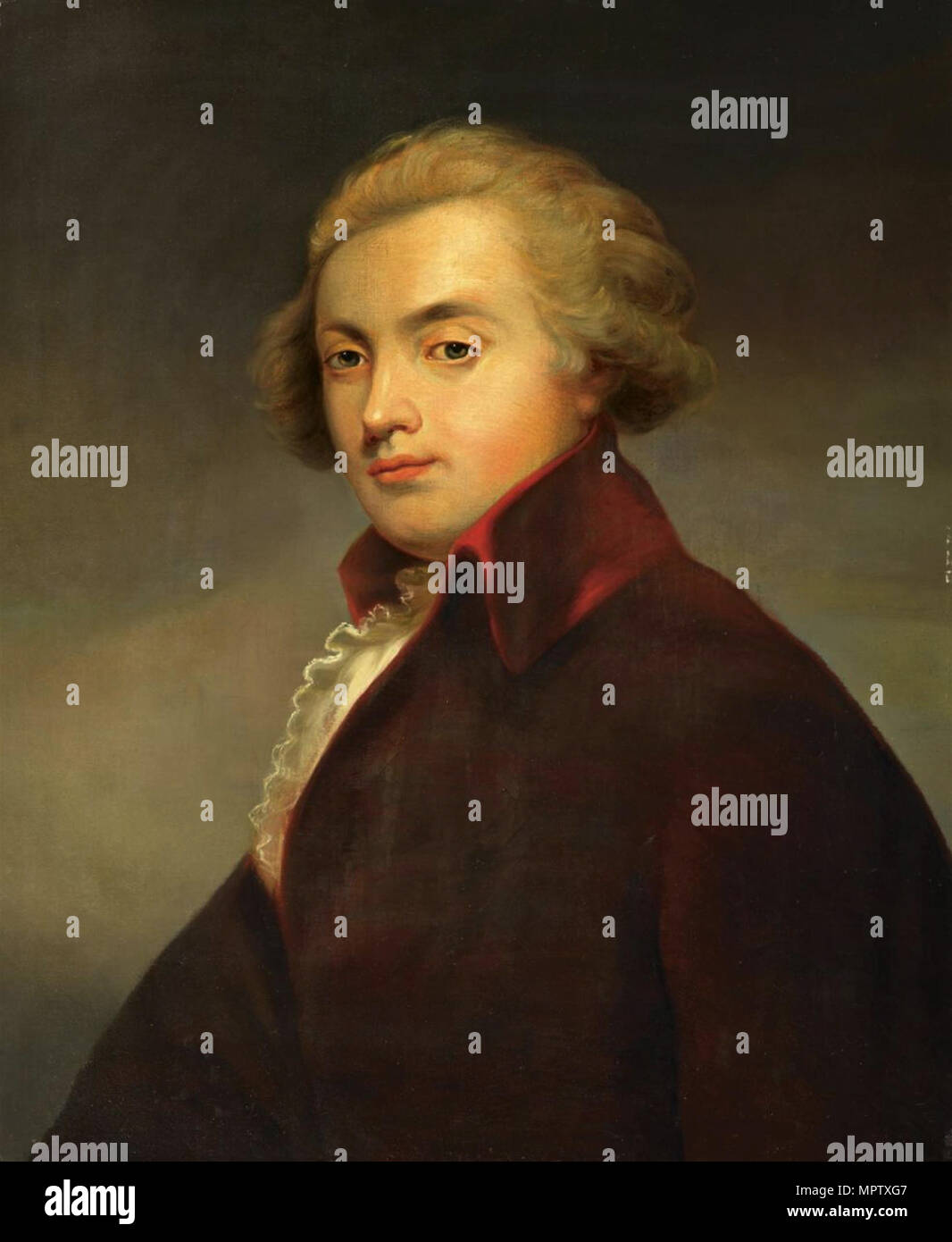 Portrait of the composer Wolfgang Amadeus Mozart (1756-1791). - Stock Image