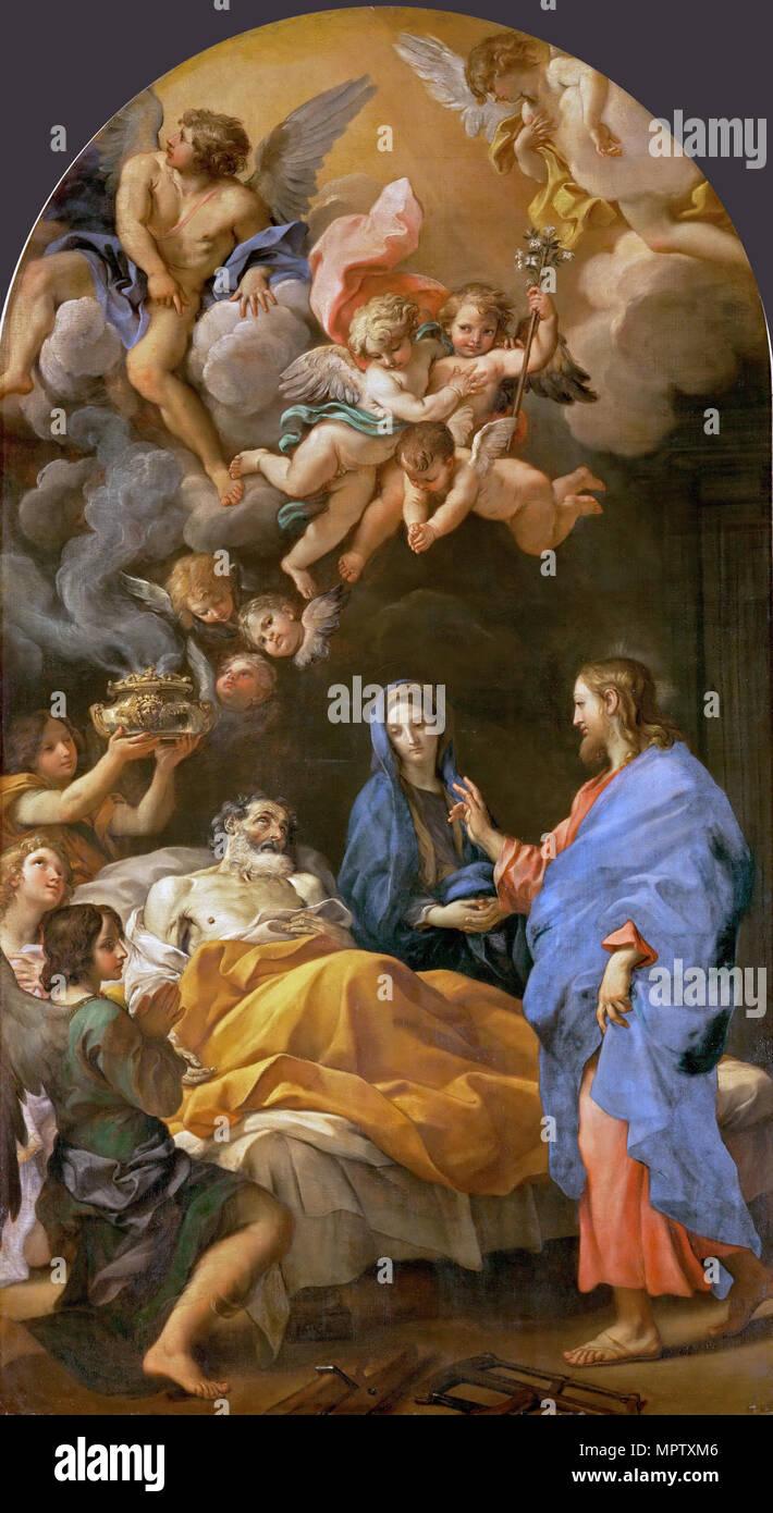 Death of Saint Joseph. - Stock Image