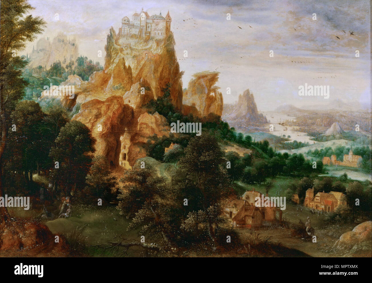 Landscape with the Parable of the Good Samaritan. - Stock Image
