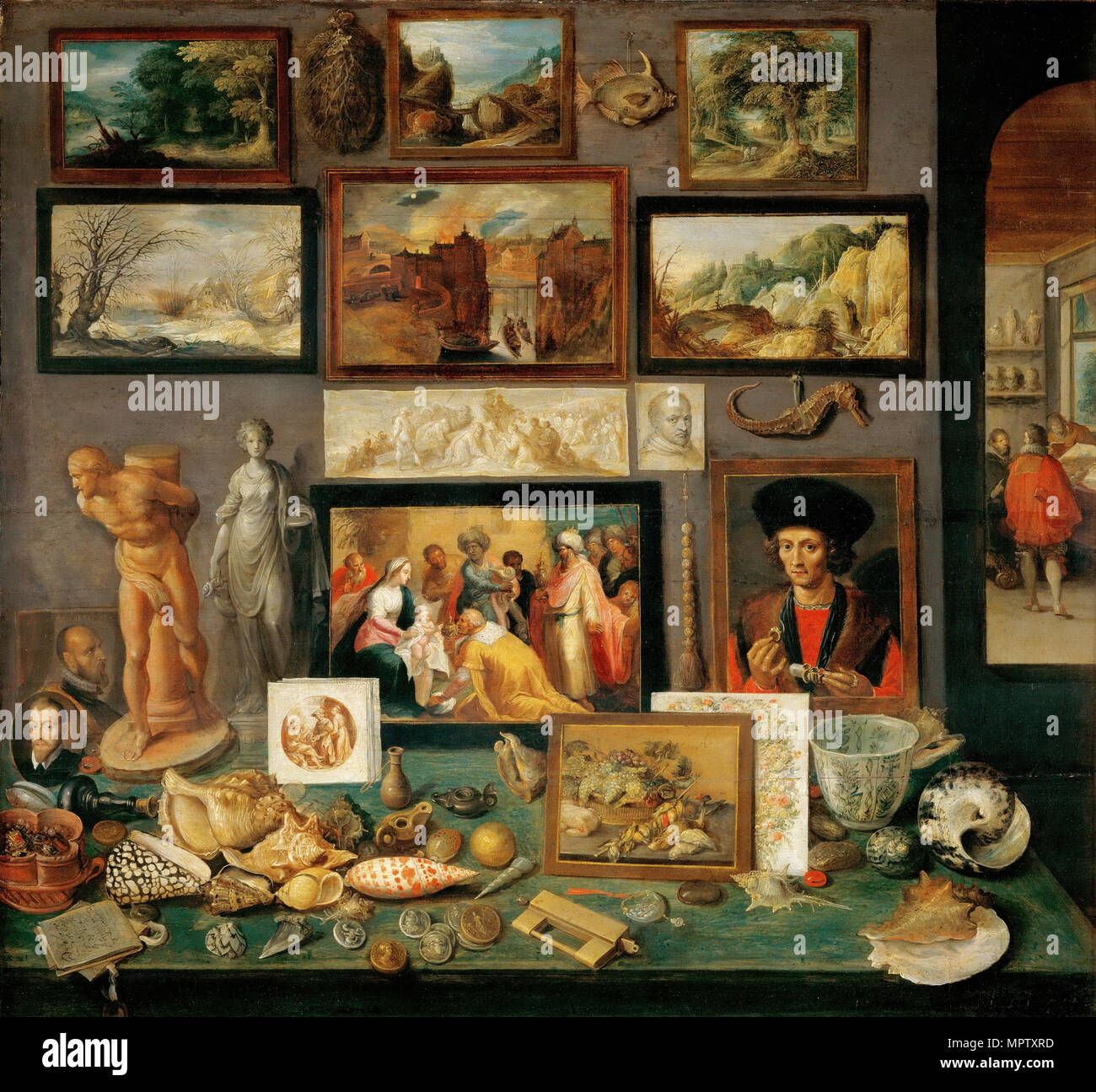 The Collector's Cabinet (Cabinets of curiosities). - Stock Image
