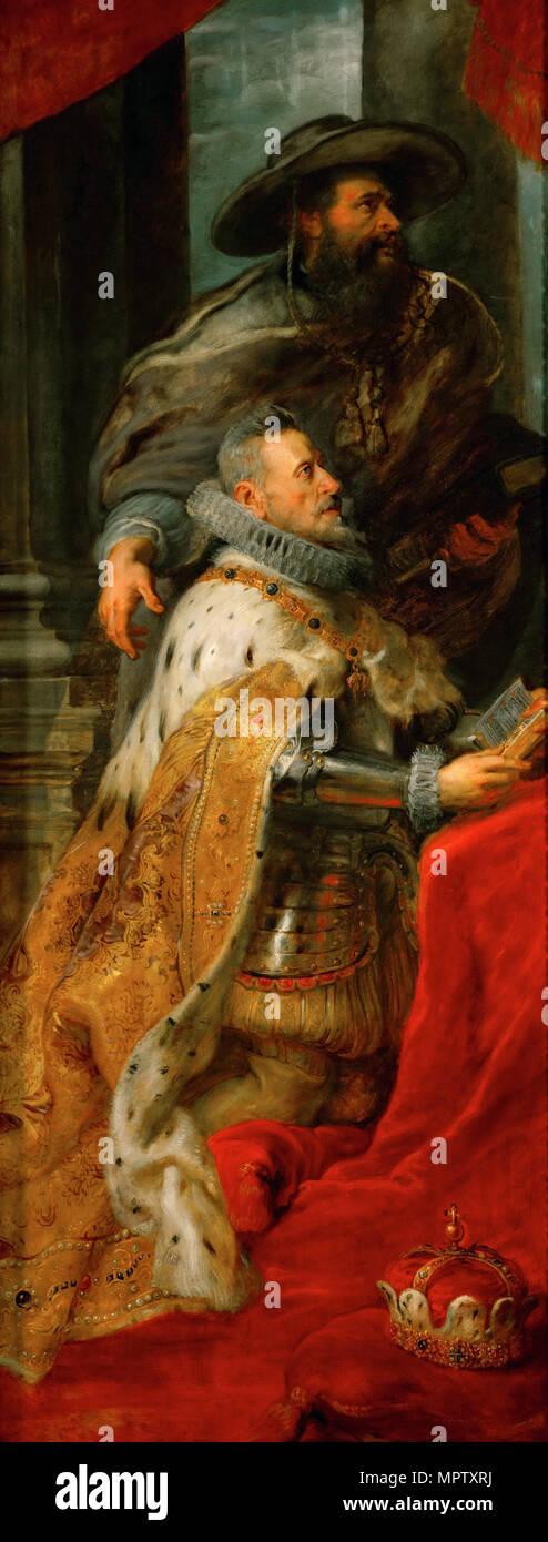 Archduke Albert VII of Austria. Left side panel of the Ildefonso Altarpiece. - Stock Image