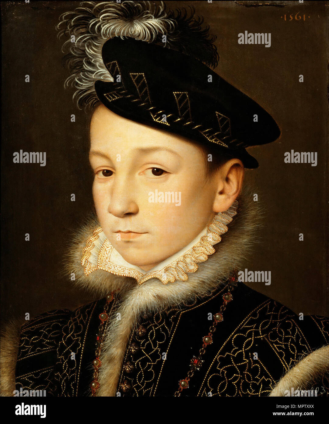 Portrait of King Charles IX of France (1550-1574). Stock Photo