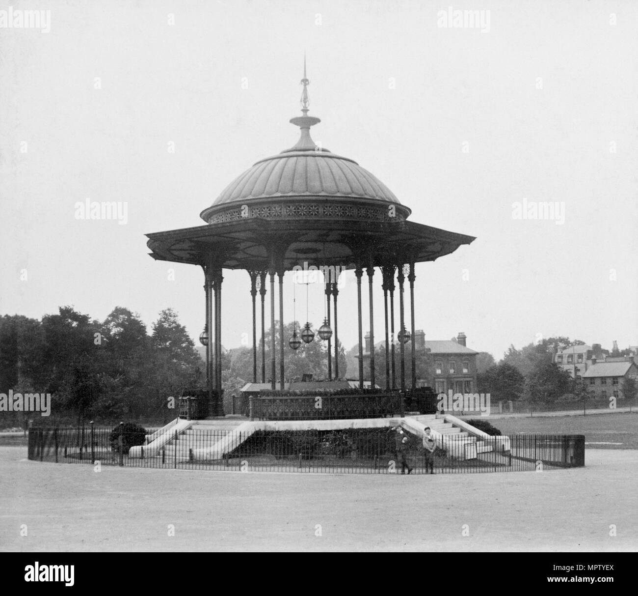 Bandstand on Peckham Rye Common, Southwark, London, 1862-1890. Artist: Unknown. - Stock Image