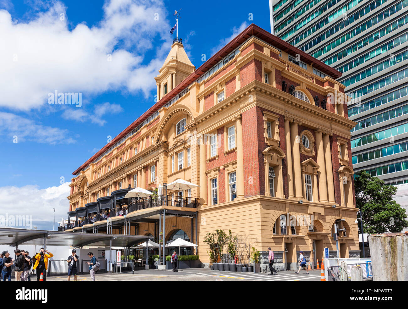 new zealand auckland new zealand north island the Ferry building Quay street Auckland waterfront new zealand north island exterior front facade - Stock Image