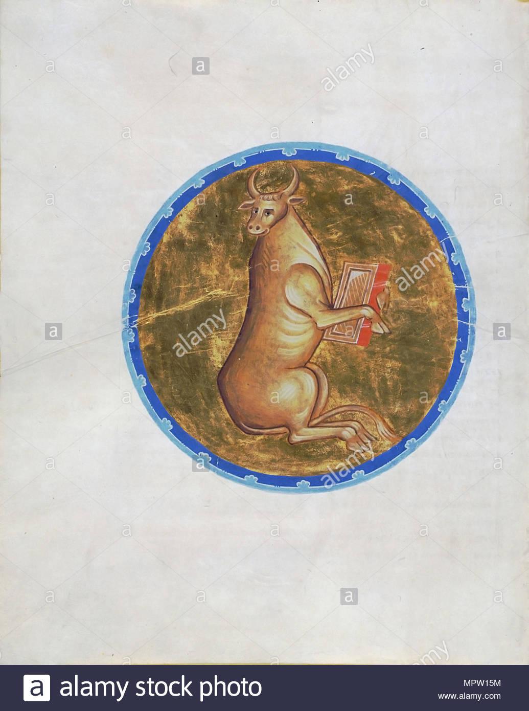 Calf Symbol Of Luke The Evangelist From The Morozov Gospel From