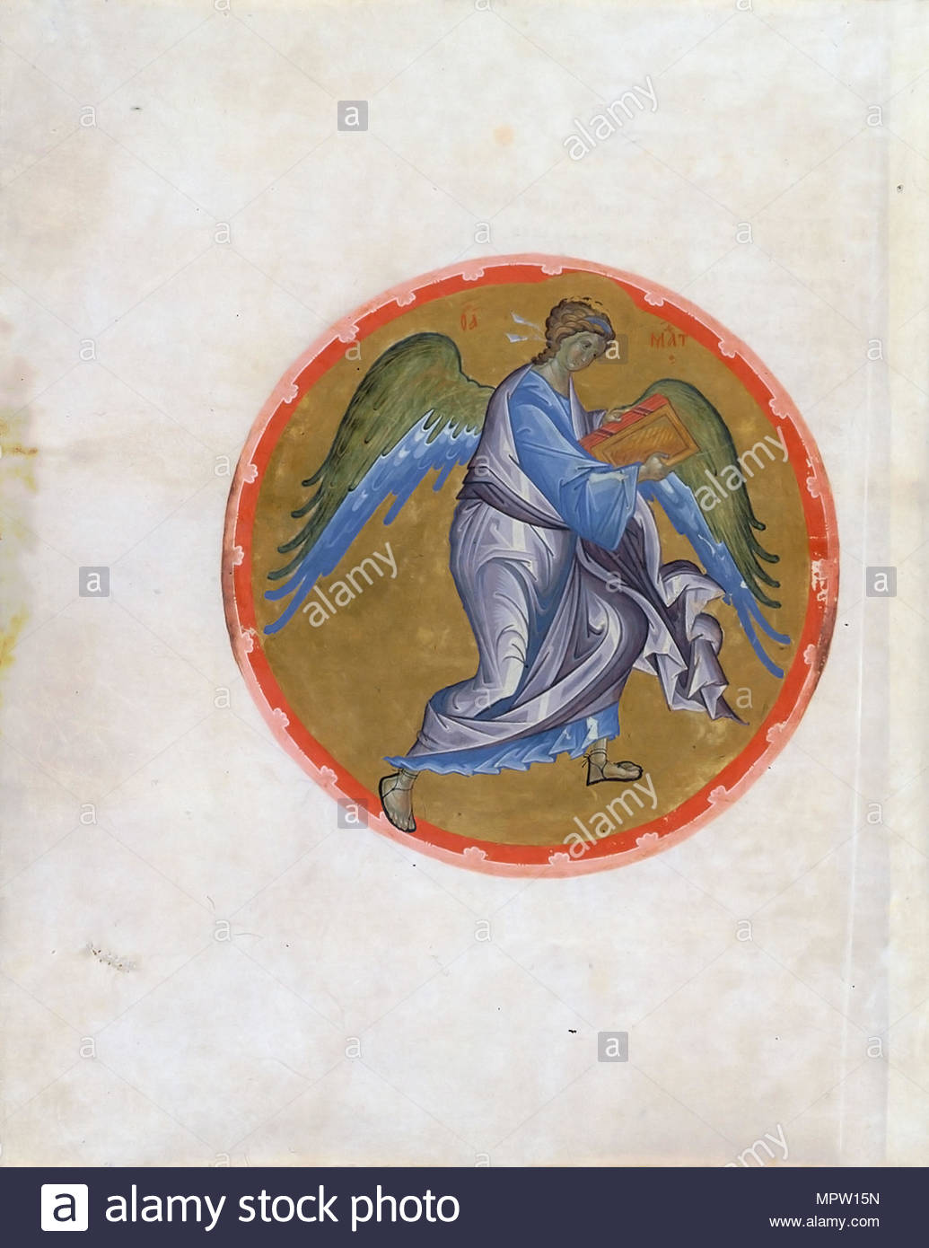Angel Symbol Of Matthew The Evangelist From The Morozov Gospel