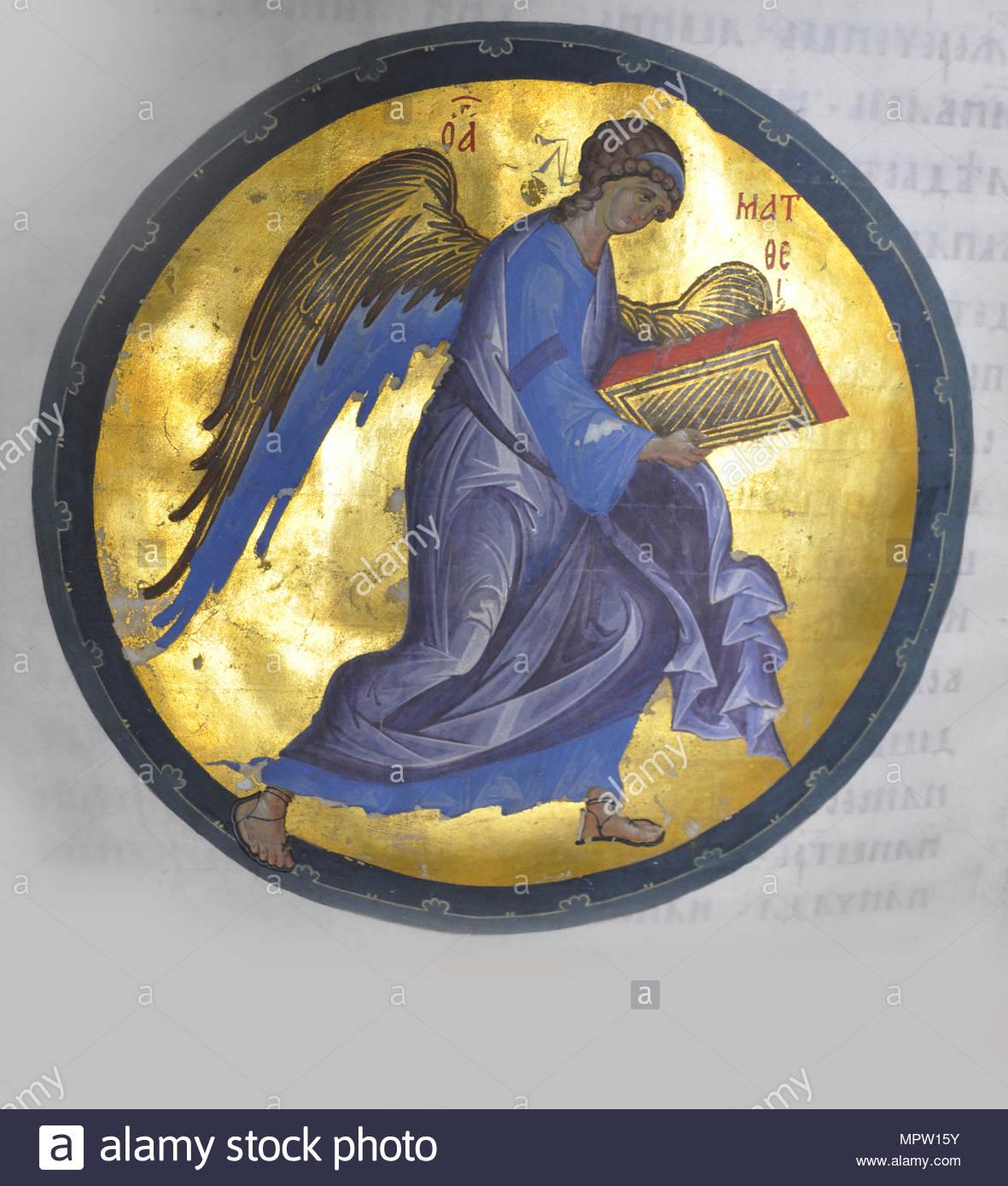 Angel Symbol Of Matthew The Evangelist Miniature From The Khitrovo