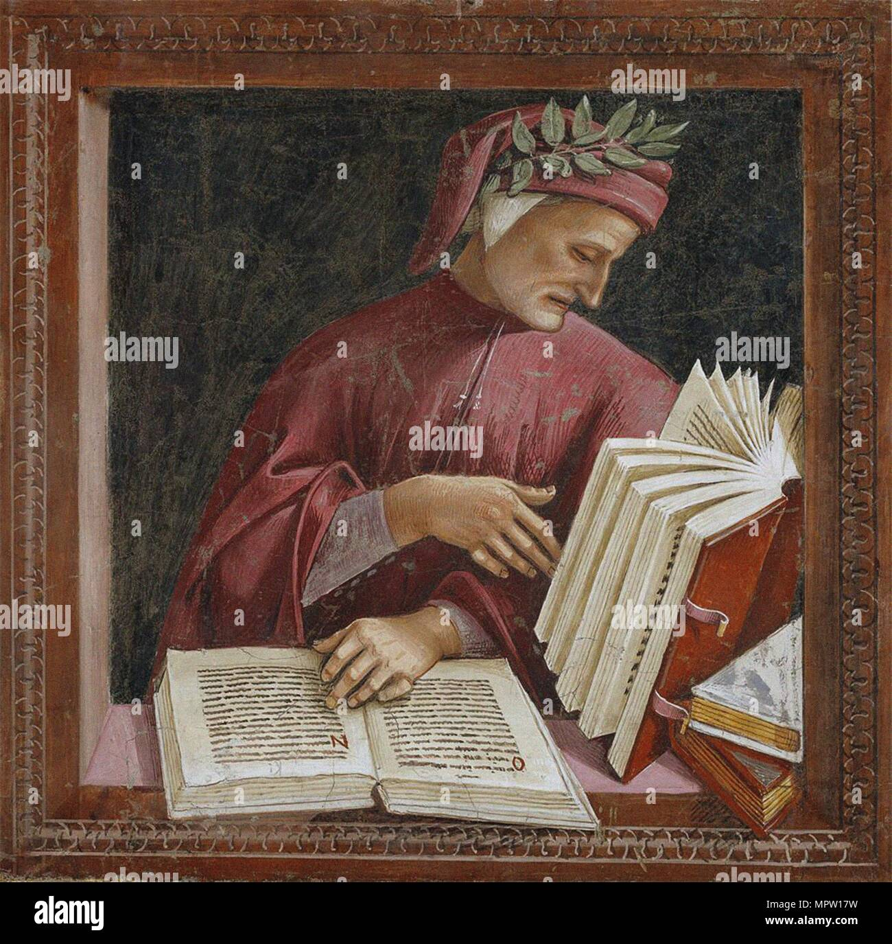 Portrait of Dante Alighieri (From: Cappella di San Brizio), c. 1500. Stock Photo