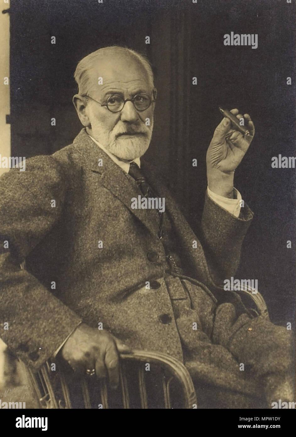 Sigmund Freud, ca 1921. - Stock Image