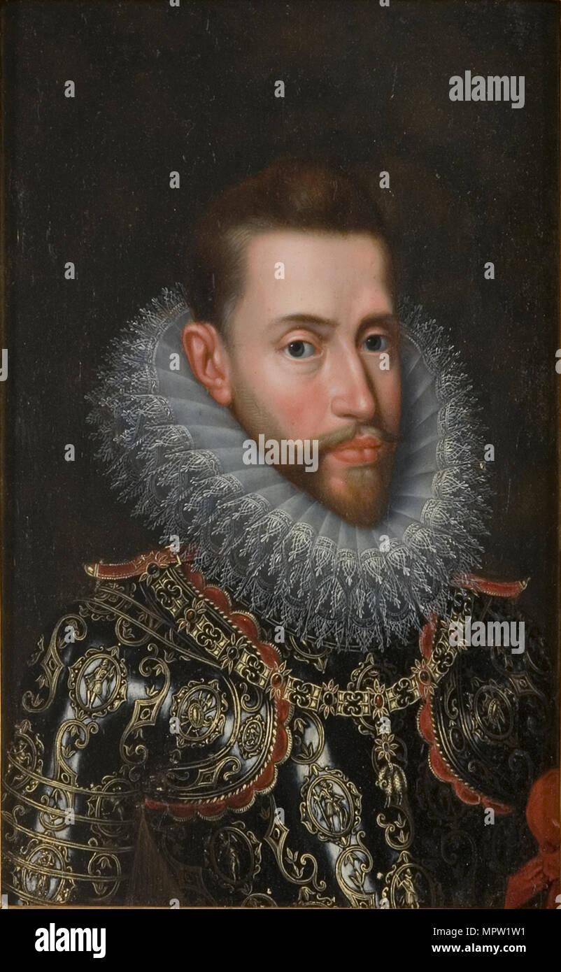 Portrait of Albert VII, Archduke of Austria (1559-1621). - Stock Image