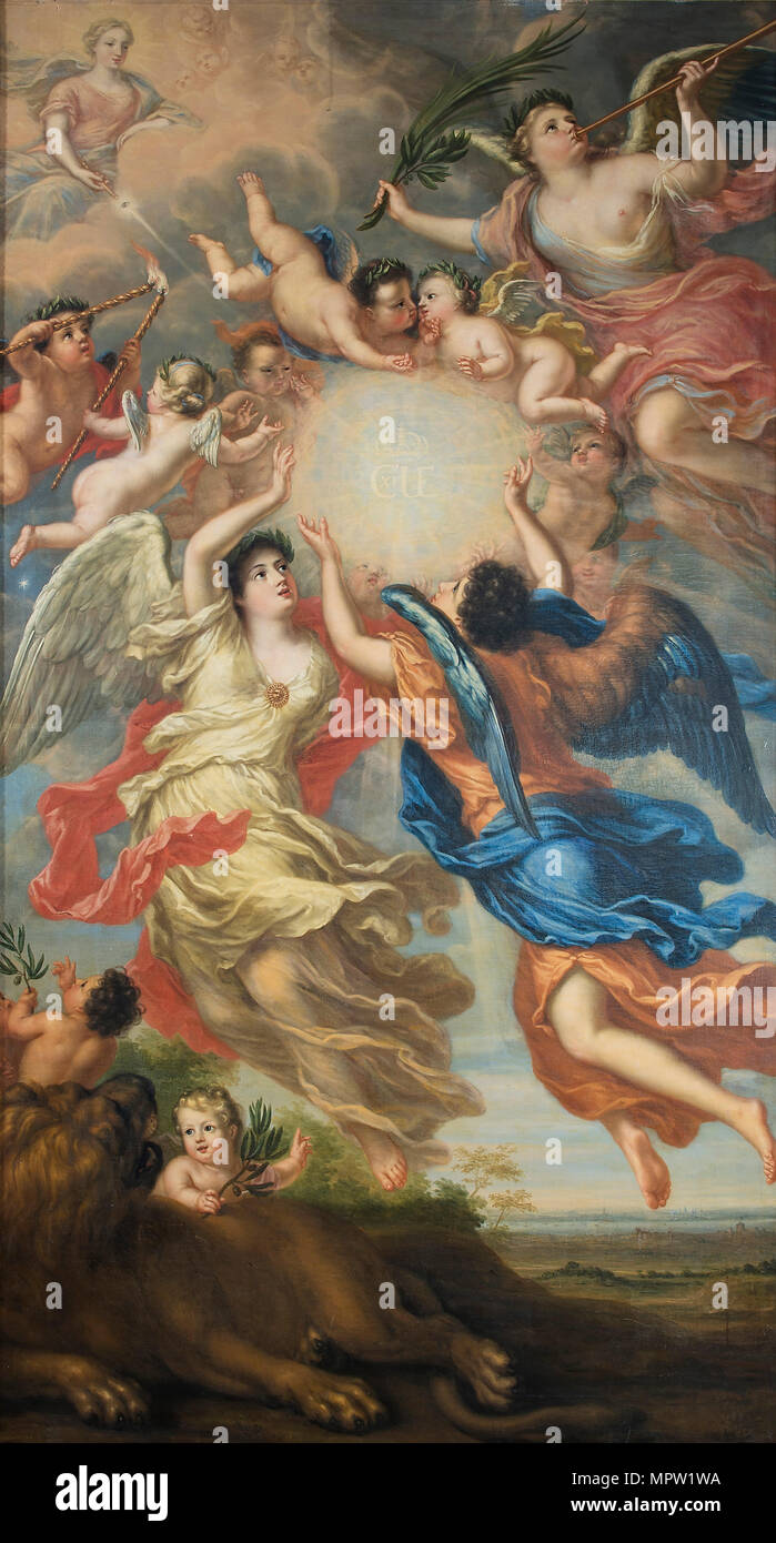 Allegory of Charles XI of Sweden (1655-1697) and Ulrika Eleonora of Denmark (1656-1693), 1692. - Stock Image