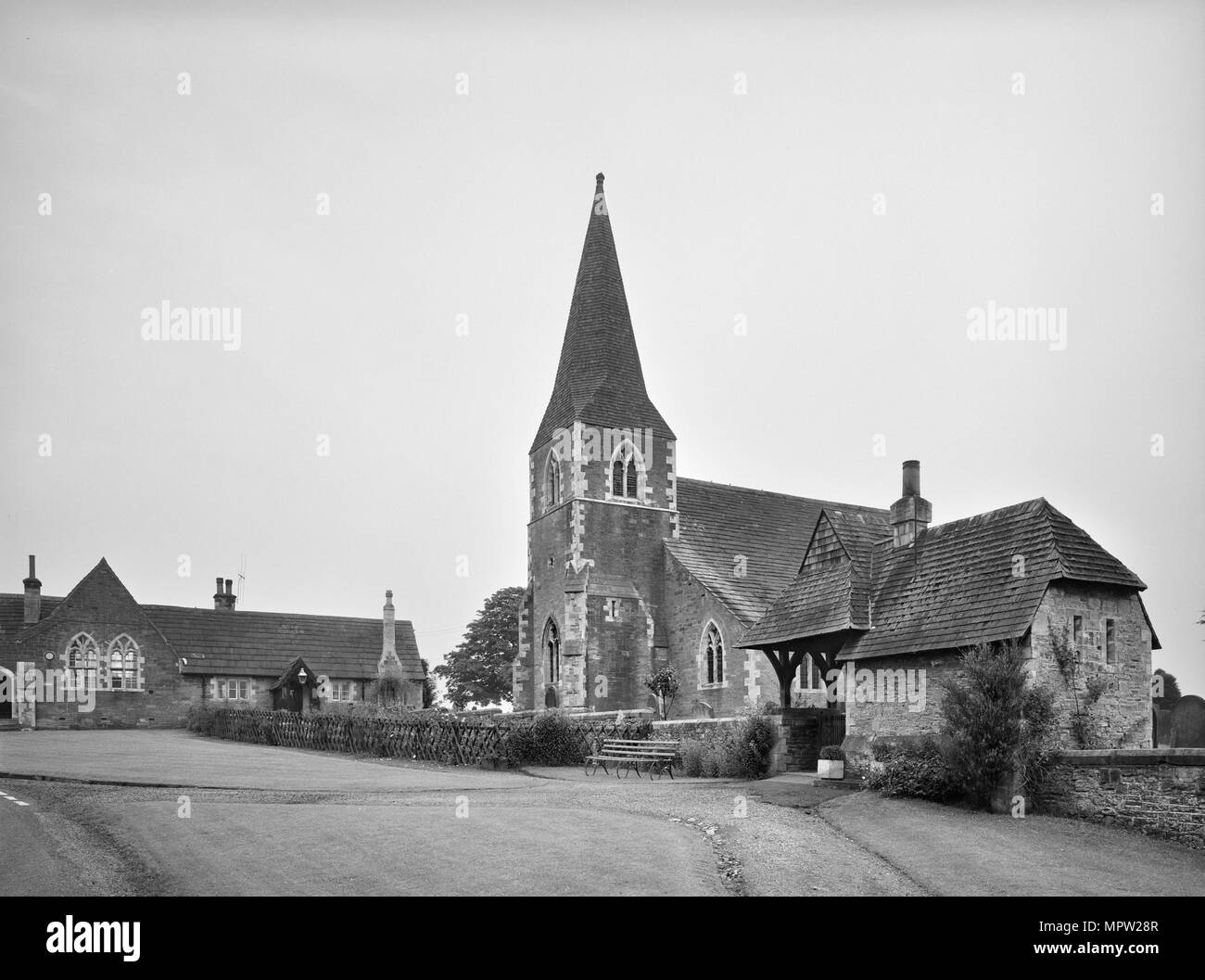 St Cuthbert's Church, Church Lane, Sessay, North Yorkshire, 1966. Artist: Gordon Barnes. - Stock Image