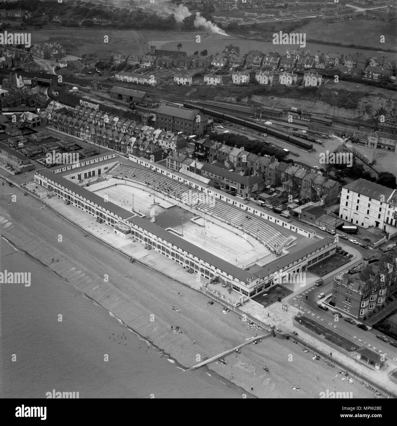 St Leonard's Lido, Hastings, East Sussex, 1962. Artist: Aerofilms. - Stock Image