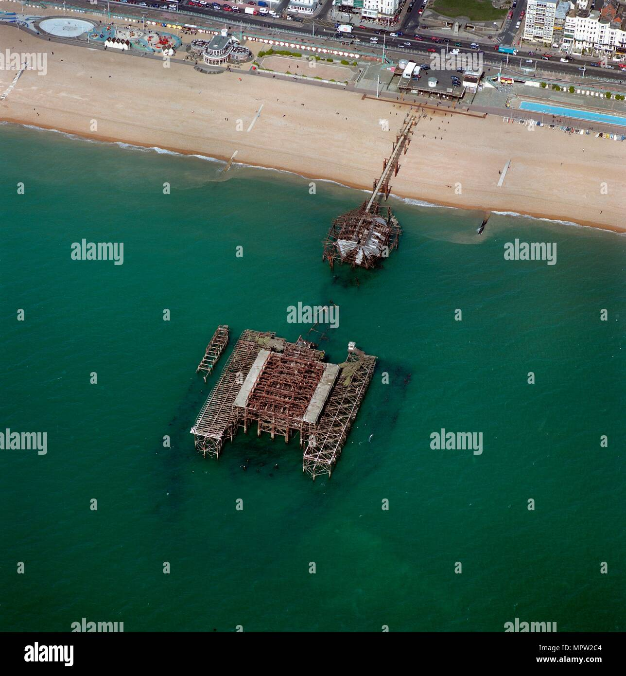 West Pier, Brighton, East Sussex. Artist: Damian Grady. - Stock Image