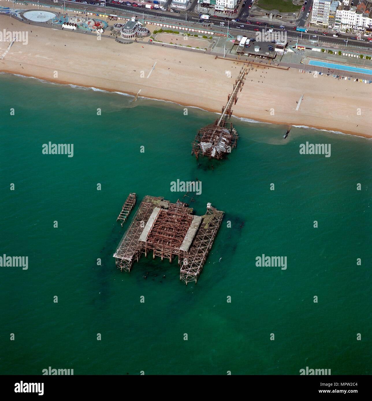 West Pier, Brighton, East Sussex. Artist: Damian Grady. Stock Photo