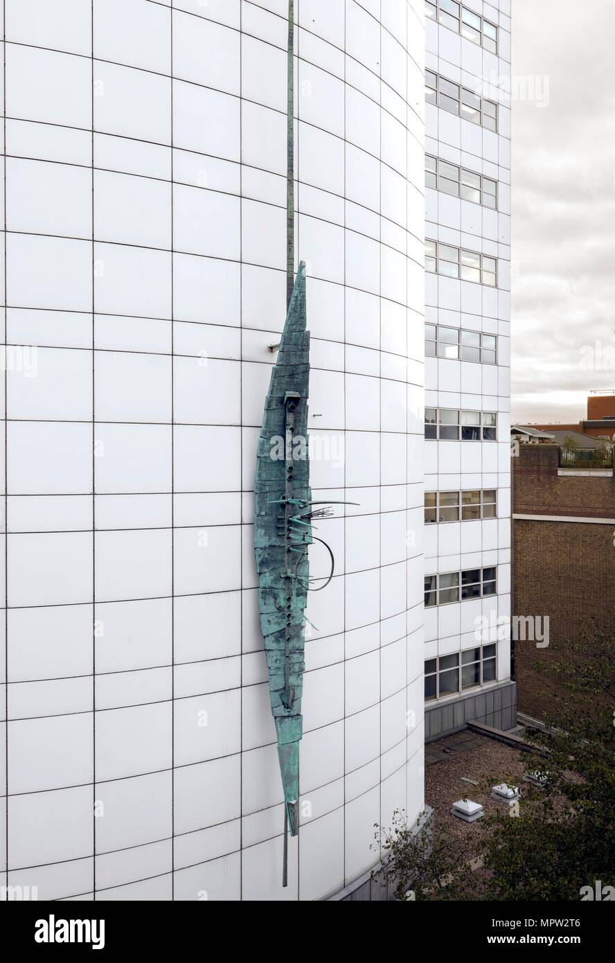 'Spirit of Electricity', sculpture by Geoffrey Clarke, Orion House, Westminster, London, 2015. Artist: Chris Redgrave. Stock Photo