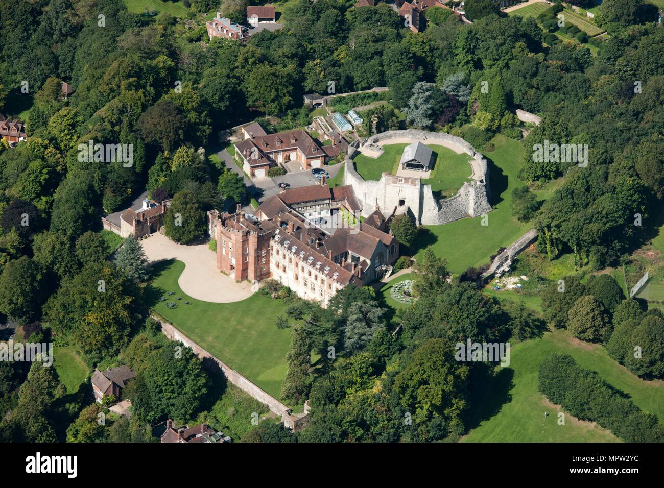 Farnham Castle, Surrey, c2010s(?). Artist: Damian Grady. - Stock Image