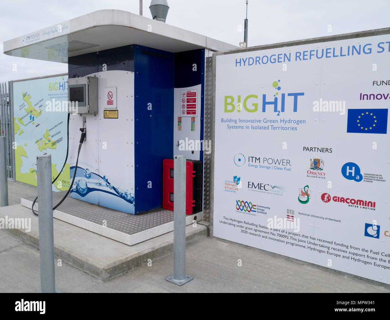 Hydrogen Refuelling Station in Kirkwall, Orkney Isles - Stock Image