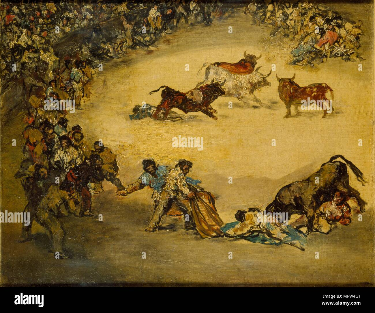Scene at a Bullfight: Diversion de Espana, c1766-1828. Artist: Francisco  Goya.
