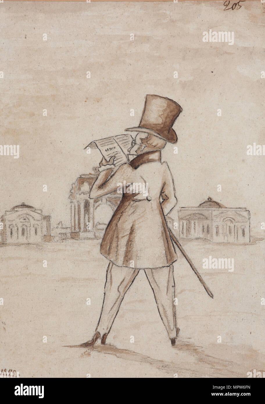 Mikhail Zagoskin (1789-1852), 1830s. - Stock Image