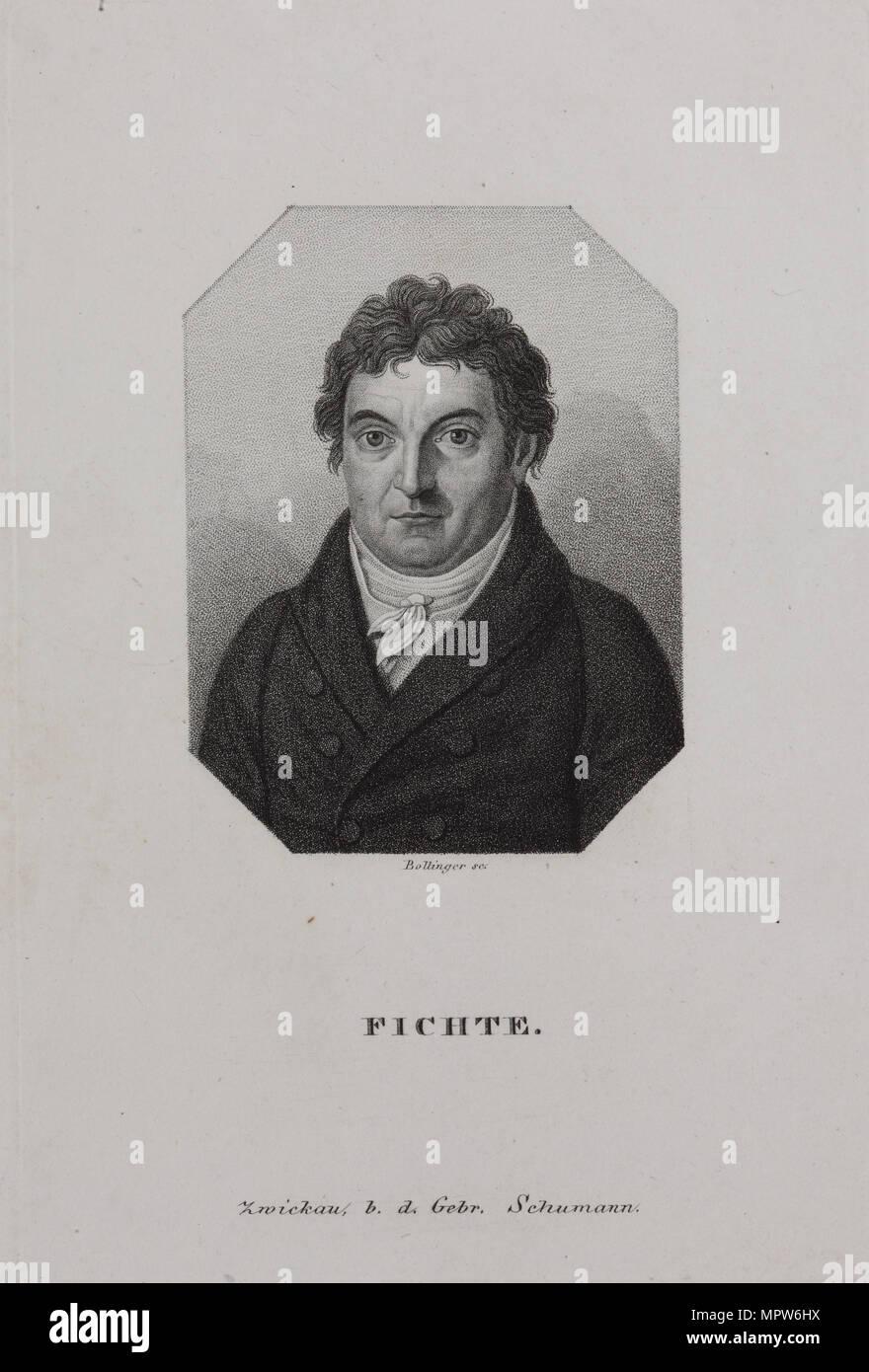 Portrait of Johann Gottlieb Fichte (1762-1814), 1810s. - Stock Image