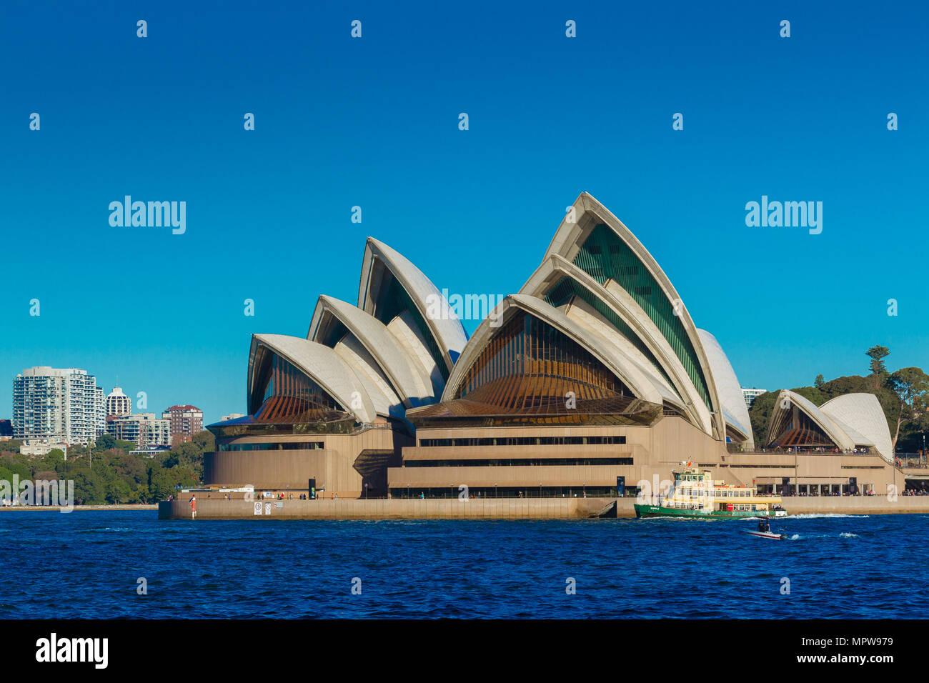 Sydney Opera House on Sydney Harbour in Australia. - Stock Image