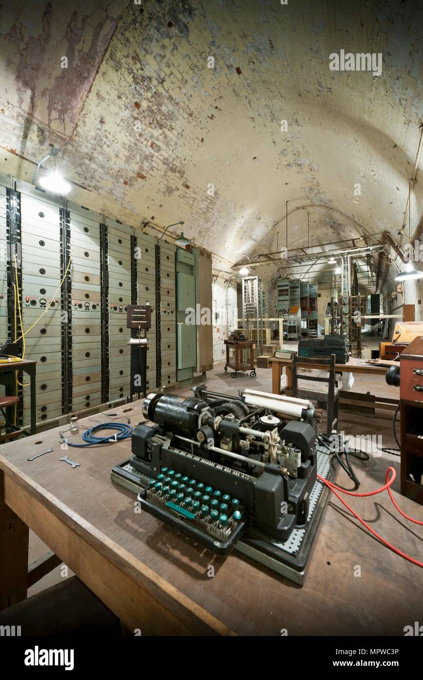 Repeater Station, Dover Castle Wartime Tunnels, Kent, 2011. Artist: Historic England Staff Photographer. - Stock Image