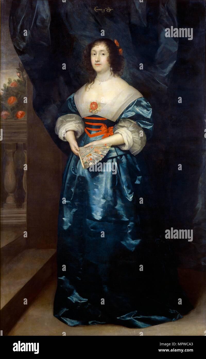 Diana Cecil, Countess of Elgin, c1638. Artist: Cornelis Janssens van Ceulen. - Stock Image