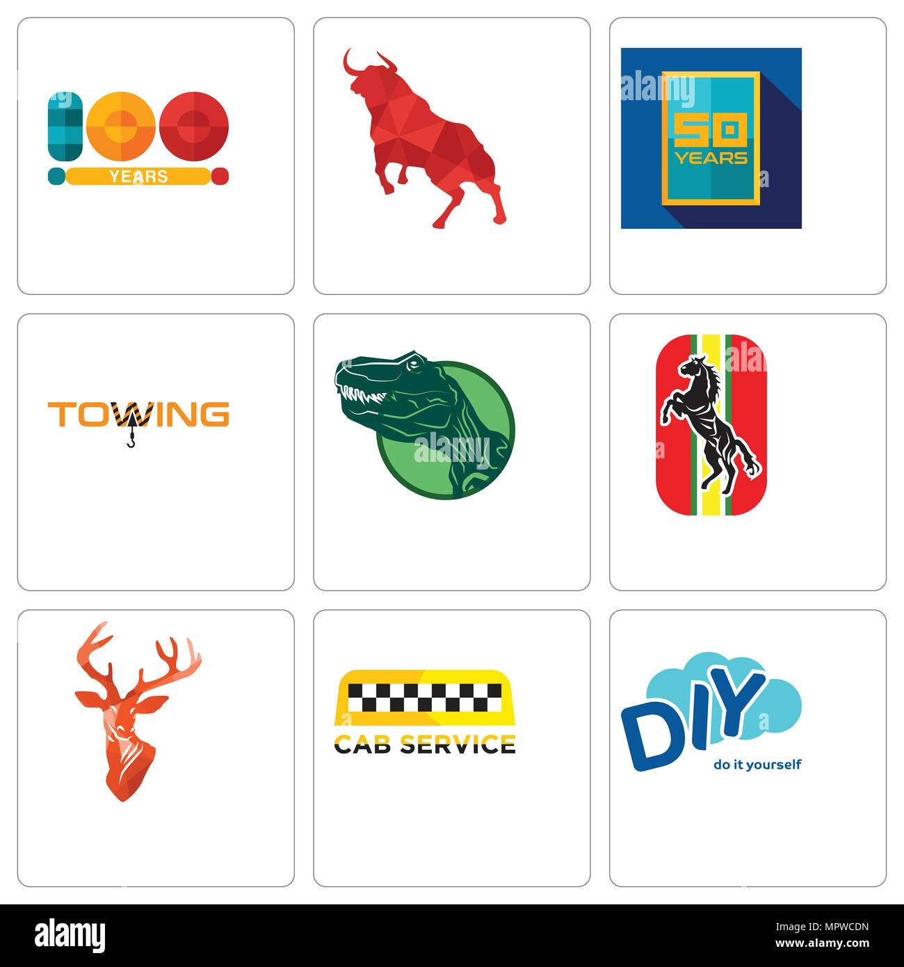 Set of 9 simple editable icons such as diy cab service stag head set of 9 simple editable icons such as diy cab service stag head horse dino towing 50 year bull 100 can be used for mobile web solutioingenieria Image collections