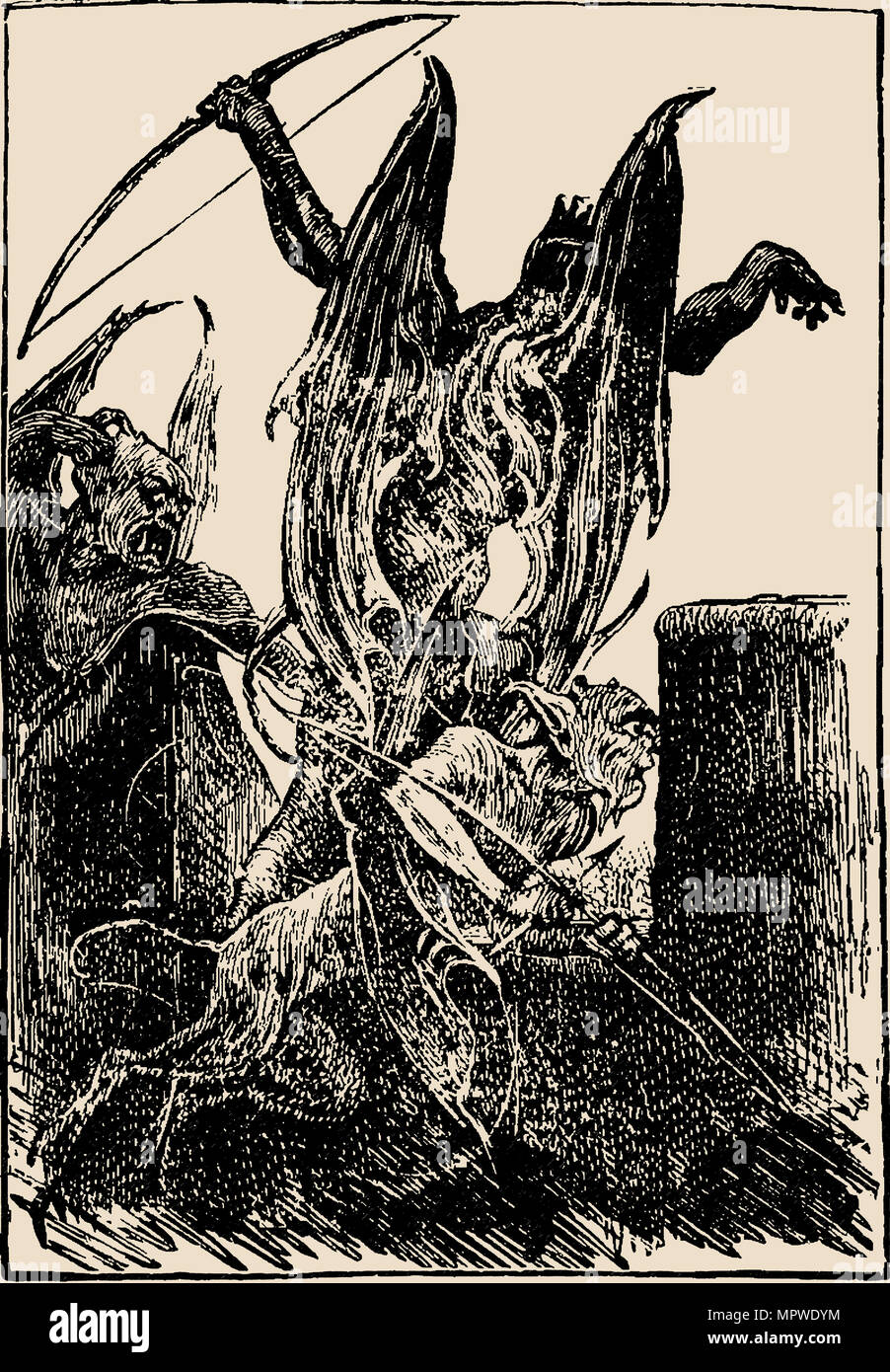 Beelzebub. Illustration from The Pilgrim's Progress from This World, to That Which Is to Come by Joh - Stock Image