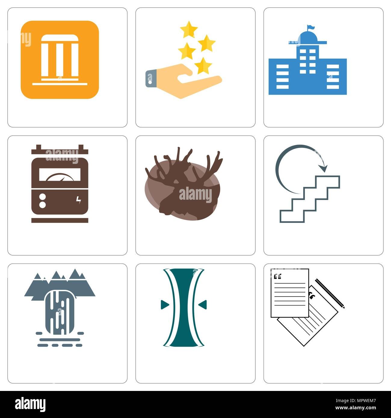 Set Of 9 Simple Editable Icons Such As Request A Quote Elastic Customer Waterfall Next Steps Moose Electric Meter Municipal Experience Municip