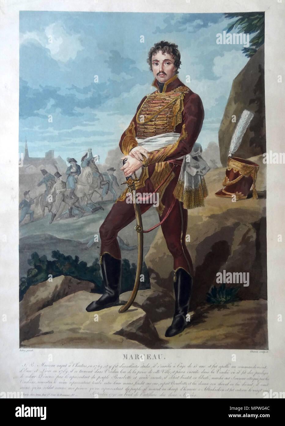 General François Séverin Marceau-Desgraviers (1751-1847), . - Stock Image