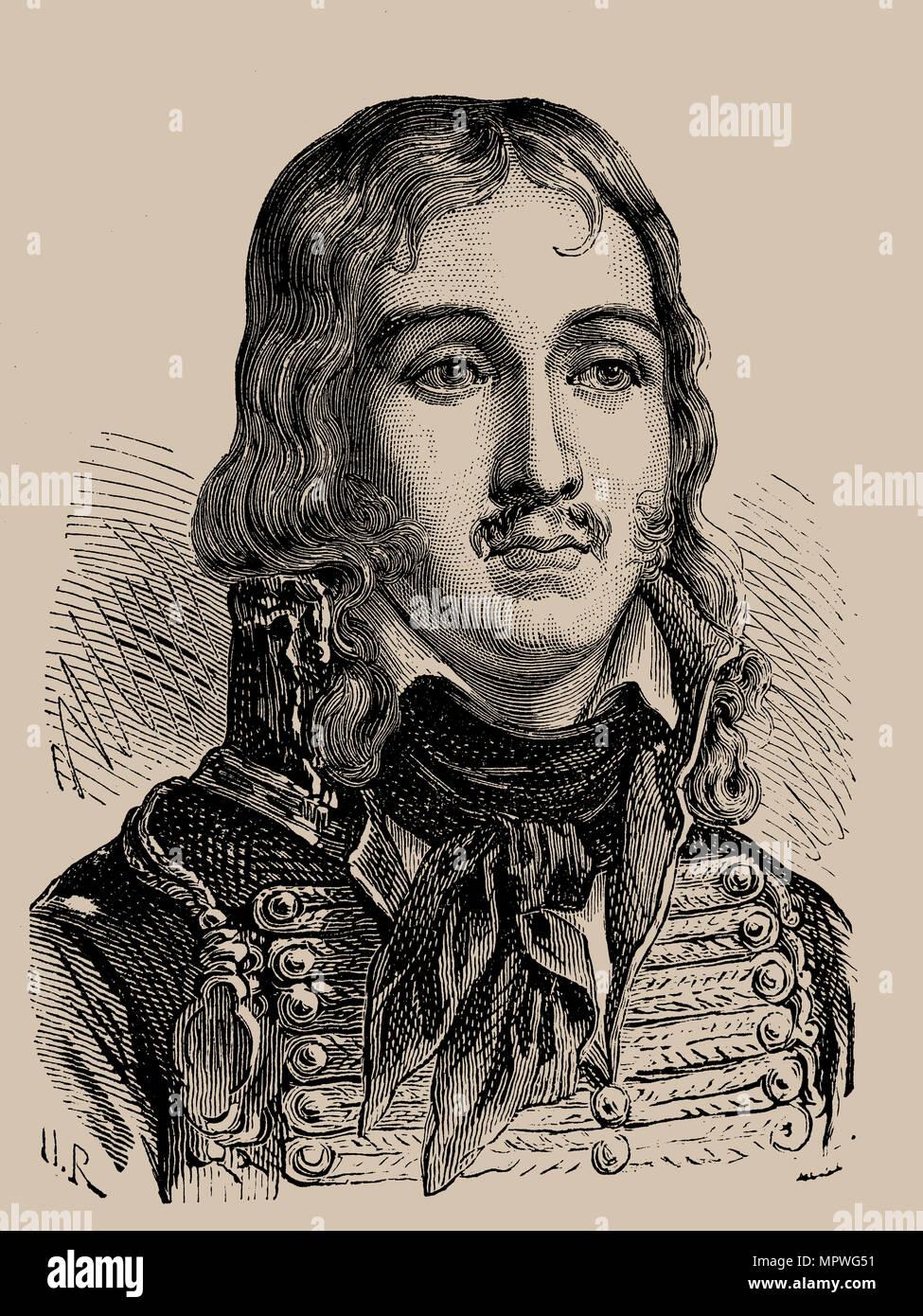 General François Séverin Marceau-Desgraviers (1751-1847), 1889. - Stock Image