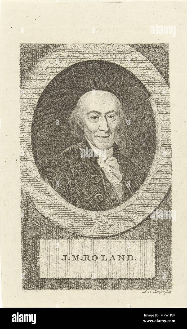Jean-Marie Roland de La Platière (1734-1793), 1790s. - Stock Image