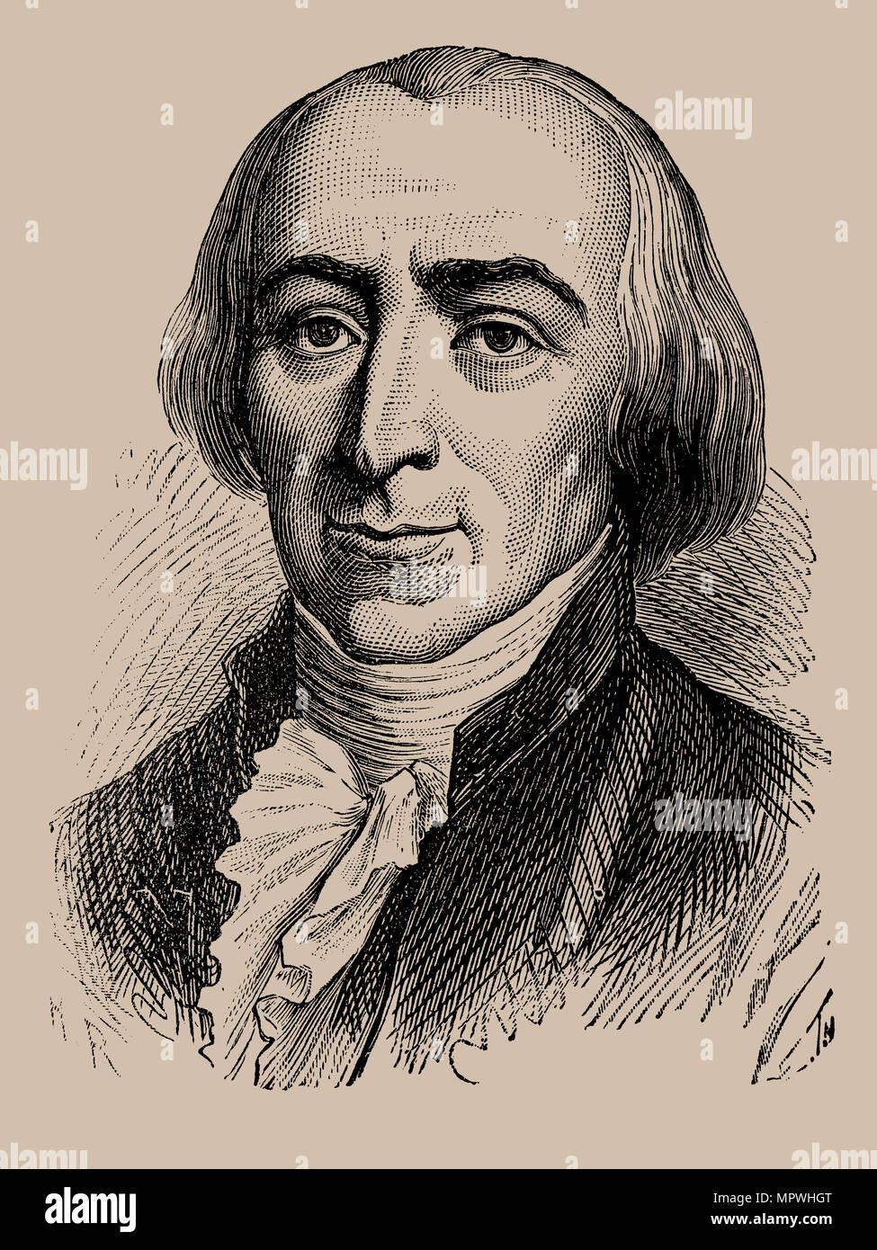 Jean-Marie Roland de La Platière (1734-1793), 1889. - Stock Image