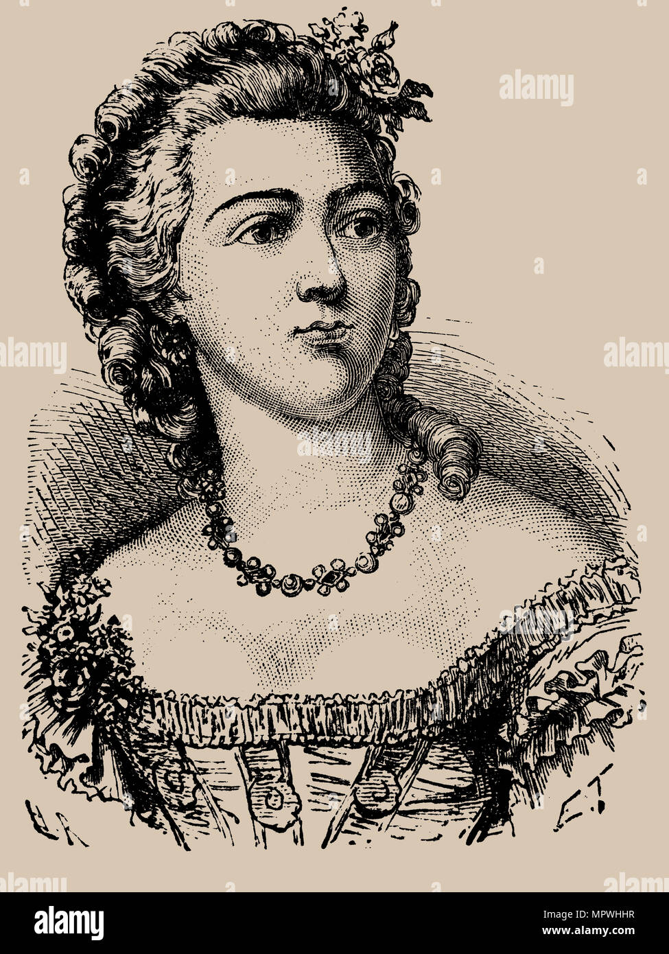 Jeanne Bécu, comtesse Du Barry (1743-1793), 1889. - Stock Image