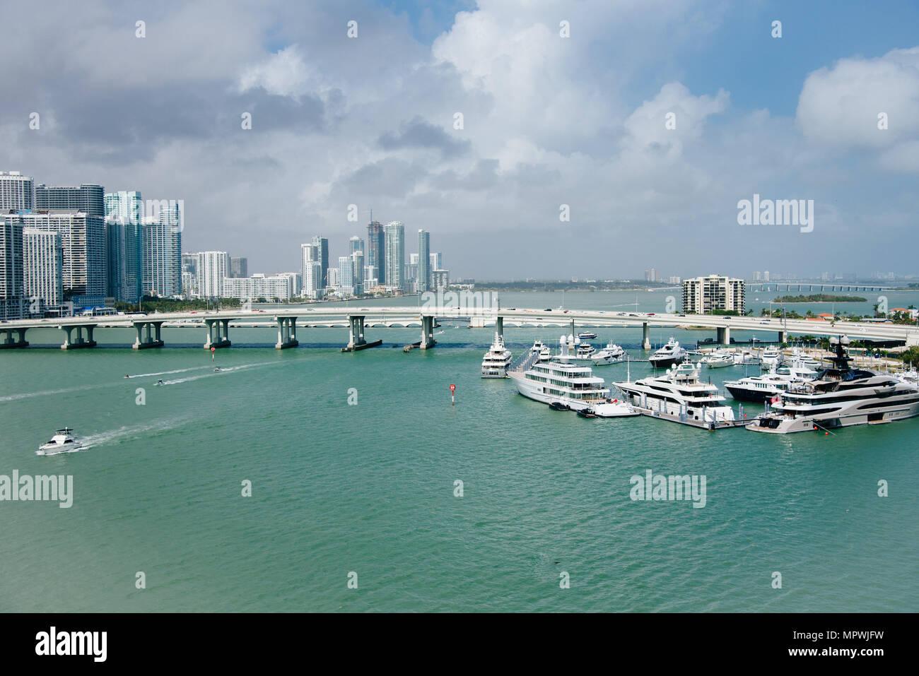 Cruise port of Miami - Stock Image