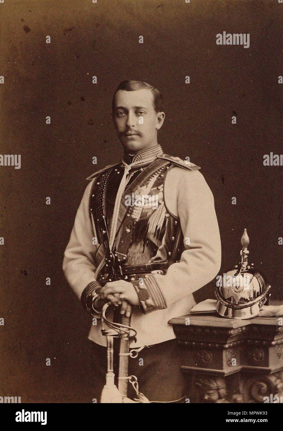 Portrait of Grand Duke Sergei Maximilianovich of Leuchtenberg (1849-1877), 1873. - Stock Image