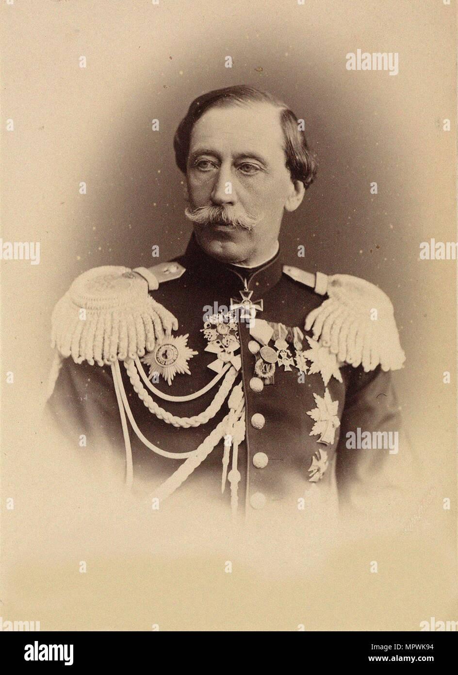 Portrait of Prince Vladimir Ivanovich Baryatinsky (1817-1875), 1874. Stock Photo