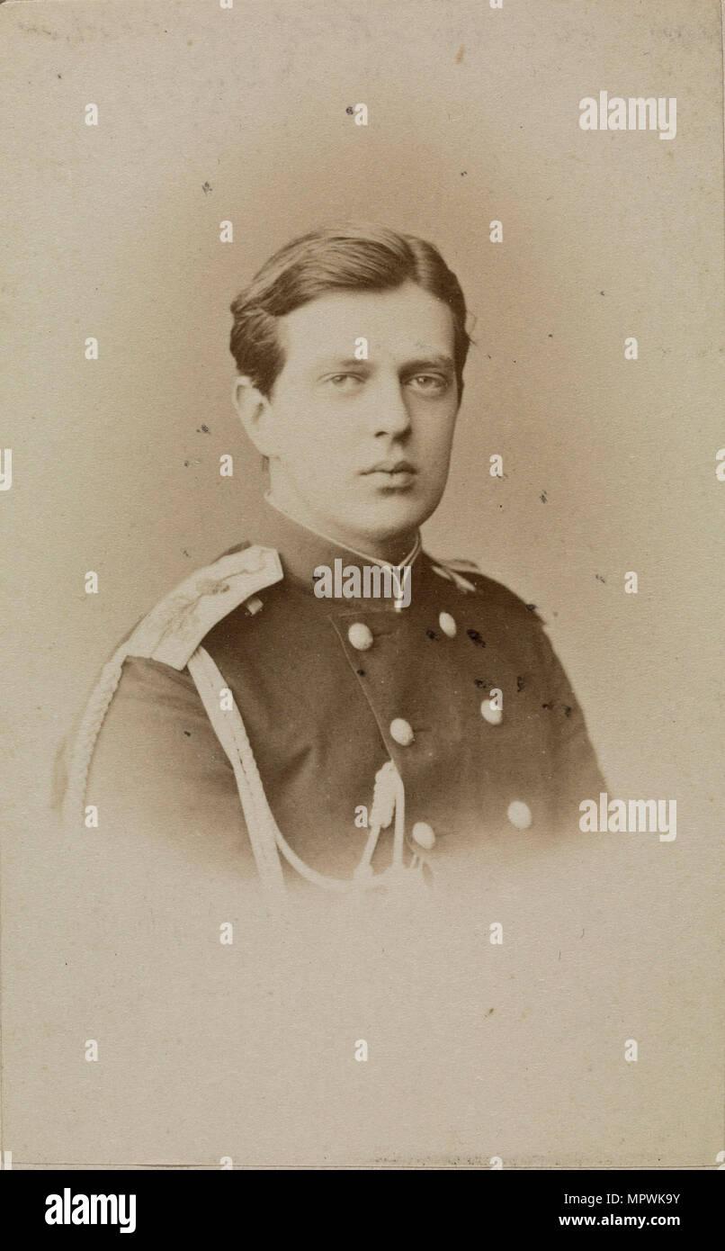 Portrait of Grand Duke Vladimir Alexandrovich of Russia (1847-1909), 1871. - Stock Image