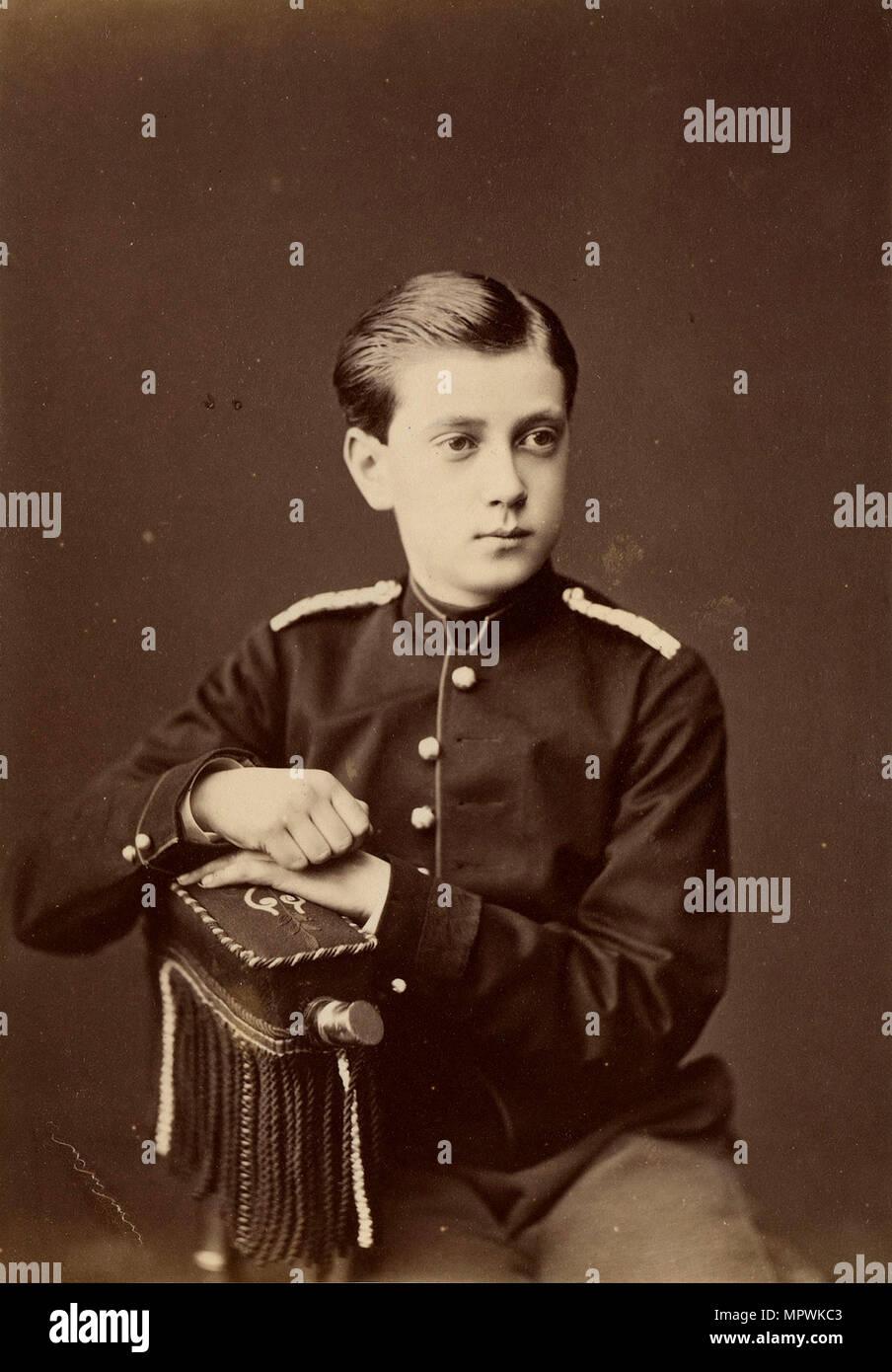 Portrait of Grand Duke Paul Alexandrovich of Russia (1860-1919), 1874. - Stock Image