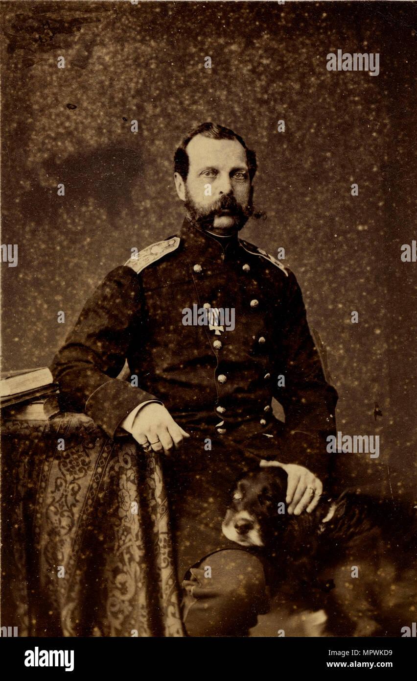 Portrait of Emperor Alexander II (1818-1881), 1873. - Stock Image