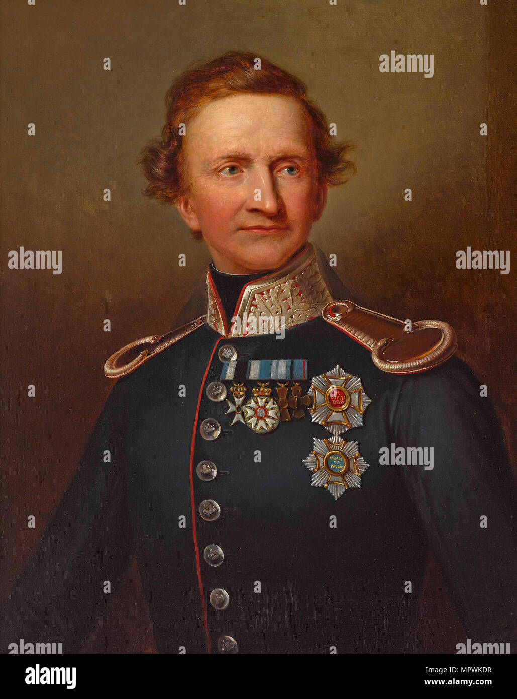 Portrait of Ludwig I of Bavaria (1786-1868). Stock Photo
