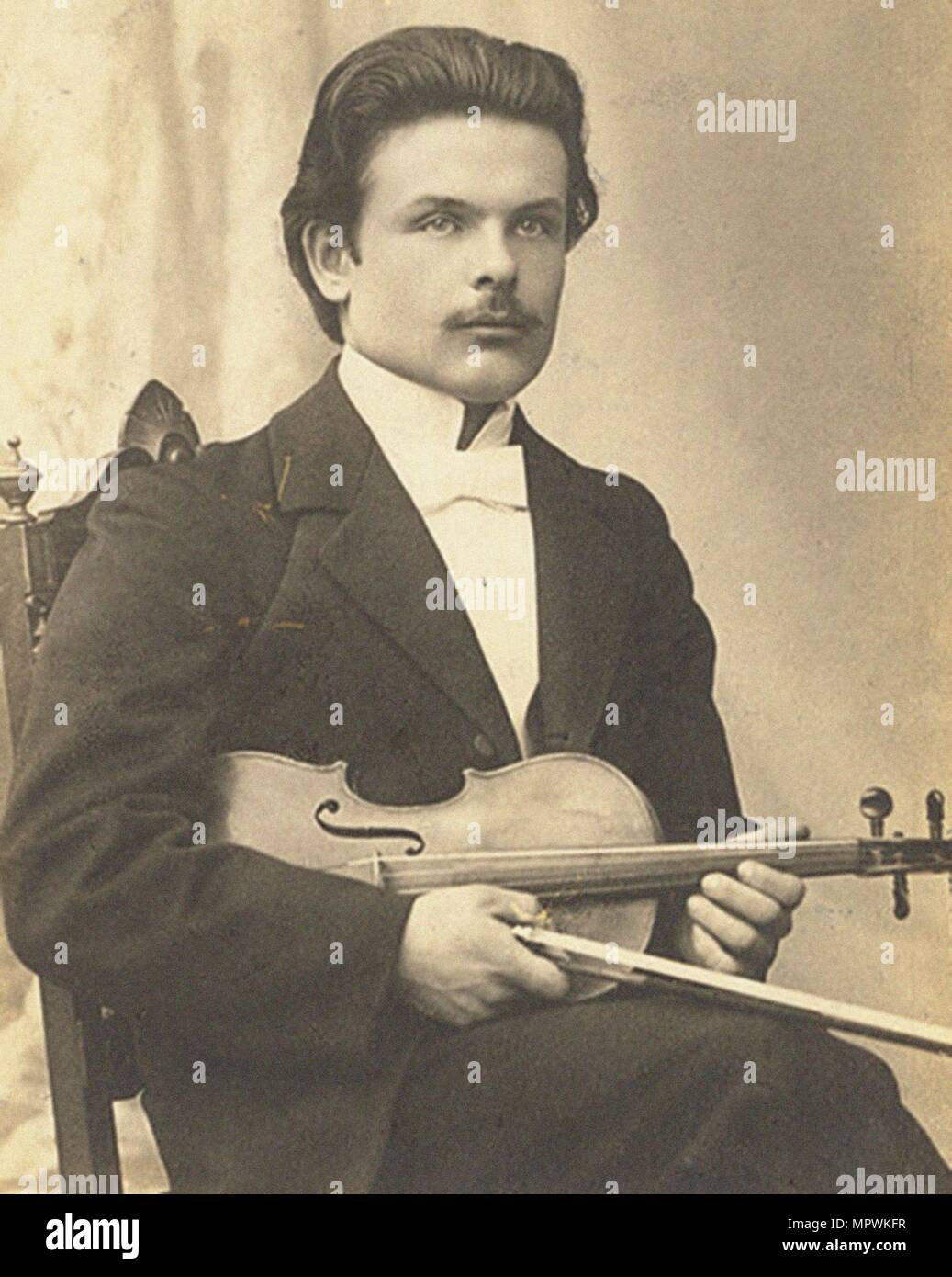 Victor Novacek (1873-1914) after the premiere of Violin Concerto in D minor, Op. 47 by Jean SibeliusStock Photo