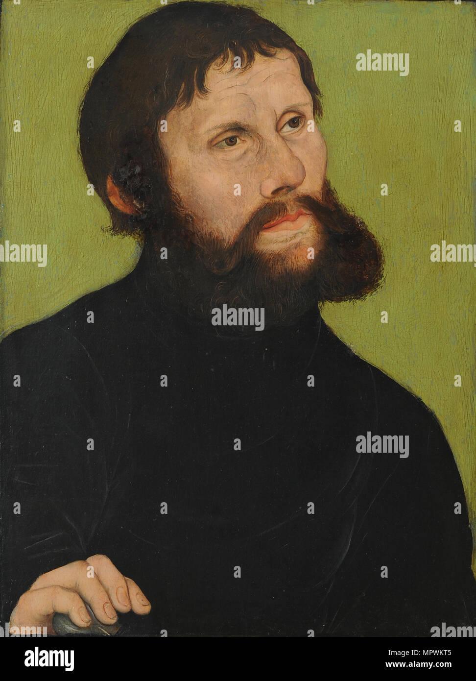 Portrait of Luther (1483-1546) as Junker Jörg, 1521. - Stock Image
