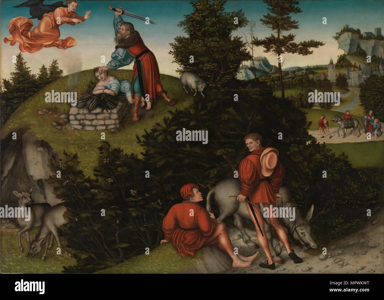 Abraham's Sacrifice of Isaac, 1530. - Stock Image